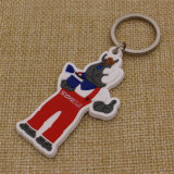Atacado Custom Your branded 2D Soft PVC Keytag com logotipo de marca