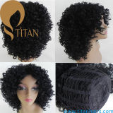 Perruque bouclée de cheveux humains d'Afro pour la femme de couleur