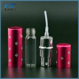 Mini frasco de perfume Refillable de alumínio portátil com pulverizador