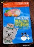 Sacchetto dell'imballaggio del gatto, dell'alimento per animali domestici del cane o, parte inferiore piana e lato del rinforzo, stampa metallica della pellicola