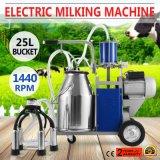 農場のための真新しい電気搾り出す機械はバケツ304のステンレス鋼のバケツを脅かす