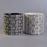 Supporto di candela di ceramica di nuovo arrivo con tessuto Pattern