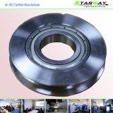 ステンレス鋼CNCの機械化の金属部分と押すサンドブラストCNC