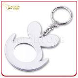 Fancy Style Embossed Printing Soft PVC Keychain com espelho na parte de trás