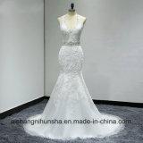 Чувствительный Beaded пояс открытая мантия венчания шнурка платья венчания