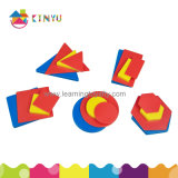 Popular Wholesale Educational Toy Pattern Blocks Puzzle para crianças
