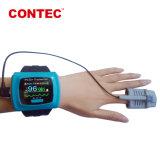 Contec Oxímetro de pulso de recarga inalámbrica CMS50FW de expertos de la fábrica Telemedcine proporcionando Comprobador de cuerpo de la casa y en el extranjero