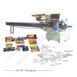 Kuchen-Biskuit-Eis-Lutschbonbon-automatische Fluss-Verpackungsmaschine des Brot-Swsf-450
