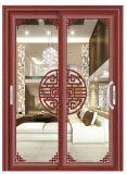 Nuovo portello scorrevole interno di alluminio semplice italiano popolare di vetro Tempered