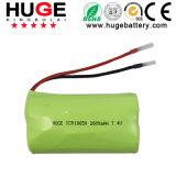 7.4V 2600mAh Li-Ionbatterie Icr18650