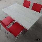 4人のアクリルの固体表面のダイニングテーブルの白(T170901)