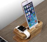 Suporte universal cobrando Desktop da doca do berço da estação da doca do carrinho para 6s 7 do relógio & do iPhone 8 x 6 de Apple positivo