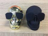 Schädel Bluetooth Lautsprecher-drahtlose menschliche Skeleton Resonanzkörper Sunglass bewegliche metallische NFC Mic Plastikenergie mobiler Subwoofer Louds Kasten