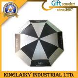 Deux parcours de golf de la couche le pliage parapluie avec logo pour la promotion (KU-006)