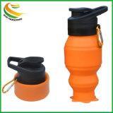 Pliage de silicone portable bouilloire bouteille d'eau pliables