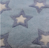 Jacquard /Carving /Tissu imprimé de flanelle 100 % polyester vêtement Hometextile literie