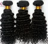 Extension de haute qualité des cheveux bouclés Fédération de Virgin Remy Tissage de cheveux humains