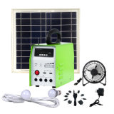 système de production de l'électricité 20W photovoltaïque avec la radio MP3