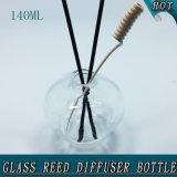 140ml Apple Form-Glaskugel-Schutzkappen-Rattan-Glasreeddiffuser- (zerstäuber)flasche