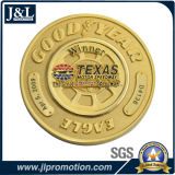 La moneta del metallo del cliente della pressofusione nella doratura elettrolitica lucida con la sabbiatura