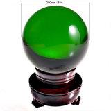 큰 크기 200mm 공간 색깔 수정같은 유리 투명한 공
