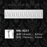 Pu die Decoratieve Eenvoudige Kroonlijst hn-8221 vormen van het Polyurethaan van de Versiering van het Plafond