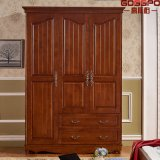 Guarda-roupa de madeira pintado à mão personalizado (GSP17-006)