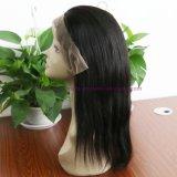 Parrucche piene diritte dei capelli umani del merletto del Virgin delle parrucche dei capelli umani della parte anteriore del merletto di densità di 130% della parrucca peruviana dei capelli per le donne di colore