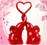 Figurines animali miniatura rossi della resina