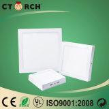 Luz del panel del cuadrado LED de la superficie de la eficacia alta 6W de Ctorch 2017 con la aprobación del Ce