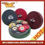 Roue de polissage abrasive de 4 pouces pour l'acier inoxydable