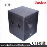 """18 """" 인치 600W 직업적인 오디오 오디오 사운드 시스템 베이스 스피커 Subwoofer"""