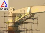 Pequeña grúa fija hidráulica eléctrica de la cubierta del auge con el auge derecho