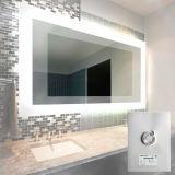Espelho do desembaçador da função da névoa do espelho do diodo emissor de luz do banheiro do hotel anti