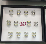 Het Dienblad 12pairs van de Vertoning van de Zwarte van de Vertoning van de luxe Trouwringen van het Dienblad van het Dienblad van Ringen