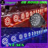 段階ライトズームレンズの同価64 Noir 18 x 8 W RGBW LED