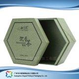 Cadeau en bois/de carton emballage/boîte de papier à thé (xc-hbt-003)