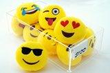 Gele Kleur om het Stuk speelgoed 5inch van Emoji van de Pluche van het Hoofdkussen