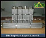 ステンレス鋼の編まれた金網のカートリッジフィルターか水フィルター