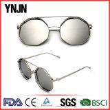 Объективов зеркала Ynjn солнечные очки восьмиугольника Unisex скачками