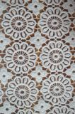 刺繍パターンが付いている新式のマットポリエステルレースファブリック