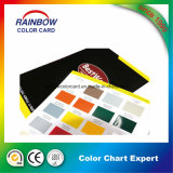 Cartão de sombra de acabamento brilhante brilhante para pintura em pó