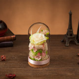 Flor natural hecha a mano del 100% para el día de tarjeta del día de San Valentín