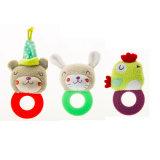 Teether multifonctionnel avec le bébé Teether de jouet de peluche 3 animaux