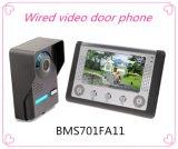 4 Draht-Gegensprechanlage-videoTürklingel mit dem 7 Zoll-Bildschirm