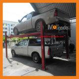 2セリウム4のコラムの水平な床の層の油圧駐車システム4ポストの小型駐車上昇
