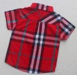 スクエア17114子供の衣服の衣服の方法男の子の子供の小切手のワイシャツ