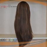 Super langes Art-volles Jungfrau Remy Haar-unverarbeitete hochwertige Silk Spitzenfrauen-Perücke