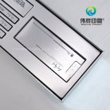 Caja de regalo de cartón rígido plateado impresión Uso de empaquetado cosmético