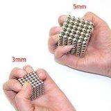 Sfere magnetiche variopinte 5mm magnetiche personalizzate del forte cubo del neodimio neo